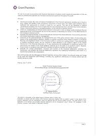 Audit Report on the Financial Statements and <b>Review</b> of Accounts ...