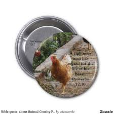Bible quote about Animal Cruelty Proverbs 12:10 2 Inch Round ...