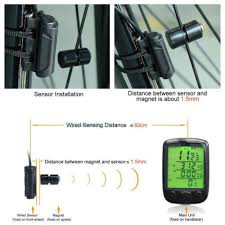 Cycling Bicycle Bike <b>Waterproof Digital LCD</b> Computer Odometer ...