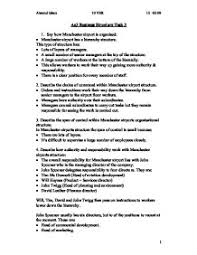 business essay structure wwwgxartorg ao business structure task gcse business studies marked by page