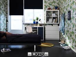ikea teenager boy bedroom design with simple white furniture and dark bedding and flower wallpaper bedroom furniture teen boy bedroom diy room