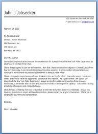 Cover Letter For Police Officer