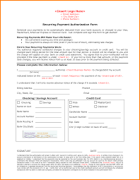 payment authorization form card authorization  11 payment authorization form