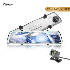 Car Dvr <b>12 Inch 2K</b> Stream Media <b>RearView</b> Mirror Dash Cam With ...