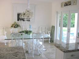 Distressed White Kitchen Table Dining Room Superb White Glass Dining Table With Beautiful Dining