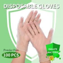 Elegant (Medium) <b>100Pcs Disposable</b> Gloves Powder <b>Free</b> Protection