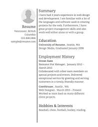 sample resume · resume comselect template letter block