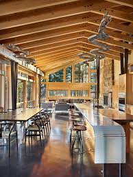 dishy kitchen counter decorating ideas: kitchen counter decorating ideas dining room contemporary with natural light exposed wooden beams unusual pendant light