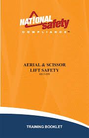 employee training booklets osha safety training videos dvds aerial scissor lift training booklets pkg of 10