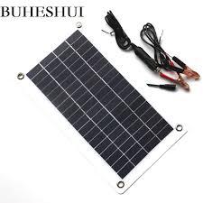 BUHESHUI Semi flexible <b>10W 18V</b> 12V Portable <b>Solar Panel</b> ...