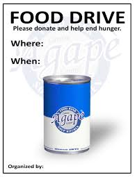 host a food drive agape centre cornwall our logo