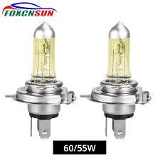 Foxcnsun <b>1PCS</b> Yellow Car Halogen Lamp 55W 100W <b>H4</b> H7 Auto ...