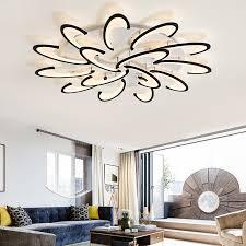 LICAN <b>modern led ceiling</b> chandelier <b>lights</b> for living room bedroom ...