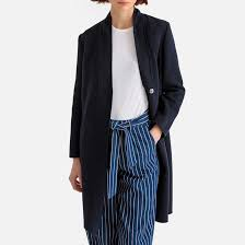<b>Пальто</b> из смесовой шерсти темно-синий <b>La Redoute</b> Collections ...