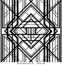 seamless pattern abstract geometric background black and white stripes intertwining lines art art deco furniture lines