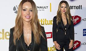 Katie Piper flashes her lingerie in <b>sexy black</b> jacketat the <b>2015</b> ...