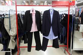 thrift consignment stores help you dress for success for less this three piece women s outfit from value village costs only 24 12 the men s blazer and pants combo costs 19 99 and the shirt is 9 99