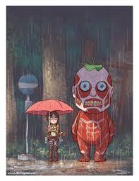 <b>Attack on Totoro</b> - By Ron Chan : ShingekiNoKyojin