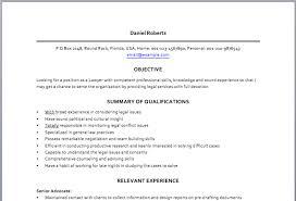 lawyer resume legal resume format