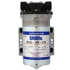 SHURflo 8010-102-210 <b>RO</b> Booster Pump <b>50 GPD</b> 80 PSI <b>24V</b> ...