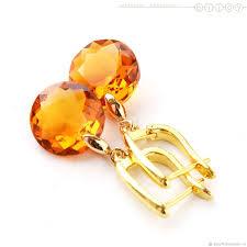 <b>Позолоченные серьги</b> с кристаллами <b>Сваровски</b> «Янтарь ...