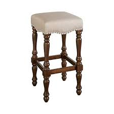 Benjara Traditional Style <b>Wooden Bar</b> Stool with Turned Legs ...