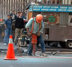 Image result for man with jackhammer