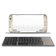 Online Shop Twice <b>folding wireless Bluetooth Keyboard</b> For ...