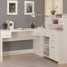 monarch specialties i7028 hollow core l shaped home office desk in white beautiful home office shaped