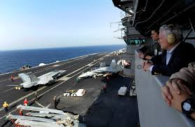 u s department of defense photo essay gates continues on the uss abraham lincoln