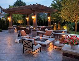 lighting patio stone ideas