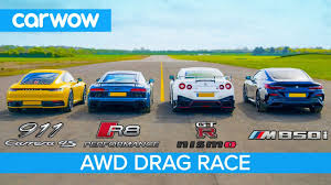 New 911 vs GT-R <b>NISMO</b> vs Audi R8 vs BMW M850i - DRAG RACE ...