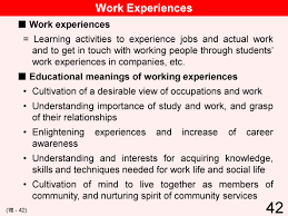 educational system practice in 42 vii cooperation between school and local community working experiences