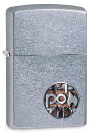 <b>Зажигалка ZIPPO Button</b> Street Chrome