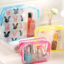 PVC <b>Transparent Toiletry Case Travel Cosmetic bag</b> Women Bath ...