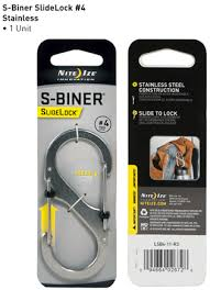 <b>Карабин</b> стальной <b>Nite Ize SlideLock</b> Steel S-Biner - 4 Stainless ...
