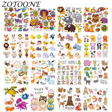 <b>ZOTOONE</b> DIY Heat Transfer <b>Cute</b> Cartoon Animal Combination ...