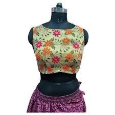 <b>Light Green</b> Netted <b>Ladies Sleeveless</b> Designer Blouse, Rs 700 ...