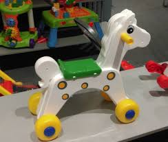 <b>Каталка лошадка</b> белая на колесах Cavallino - Родные игрушки