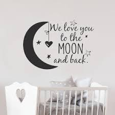Выгодная цена на we love you to the moon <b>and</b> back wall sticker ...