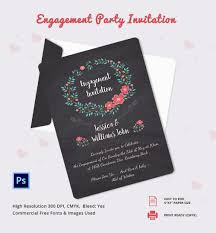 engagement invitation psd ai vector eps engagement party invitation template