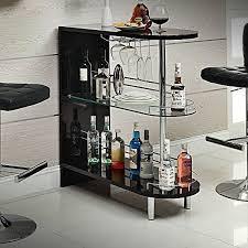 contemporary black home bar pub table wine rack mini liquor storage shelves black mini bar
