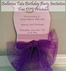ballerina tutu diy party invitation printable ballet party ballerina tutu invitation diy printable birthday invite