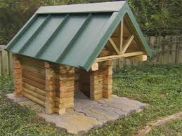 Crafters  German shepherd dog house plansHow to Build a Log Cabin Dog House