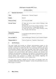 resume in medical receptionist   sales   receptionist   lewesmrsample resume  cover letter for medical office