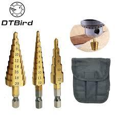 <b>3pcs Hss</b> Steel <b>Titanium Step</b> Drill Bits 3 12mm 4 12mm 4 20mm ...