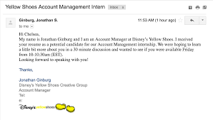 prof internship at yellow shoes life is the bubbles at disney i received an email from an account manager at disney s yellow shoes for a 30 minute discussion where they want to learn more about me
