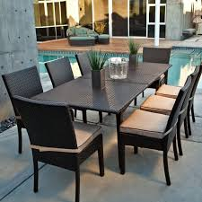 resin wicker outdoor dining sets like this one go with a number of styles from modern cheap plastic patio furniture