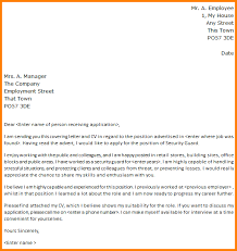 security cover letter  seangarrette cosecurity guard cover letter security guard cover letterpng   security cover letter