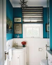 corner sinks design showcase:  tiny corner vanity for the eclectic powder room design hillary thomas designs